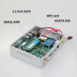 Image 5 - XCY Fanless Mini PC Intel Core i7 4610Y i5 4200Y i3 4010Y DDR3L mSATA SSD HDMI VGA 6 * USB wiFi Gigabit LAN Windows 10 Linux HTPC