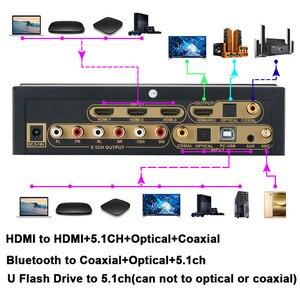 Image 2 - 4k * 2k hdmi para hdmi extrator conversor bluetooth dac digital spdif hdmi dts 5.1 áudio decodificador hdmi arco conversor de áudio engrenagem
