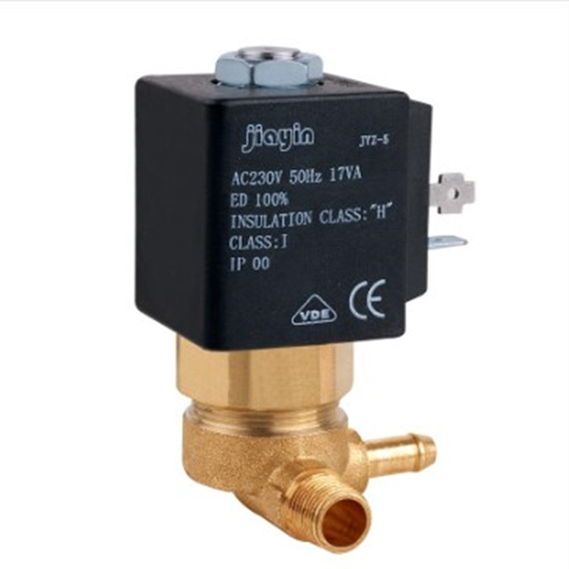 JYZ-5 Cannula 3mm 2/2 Way N/C AC 230V G1/8' Electric Valve Steam Iron Air Generator Water Solenoid Valve Coffee Makers Parts