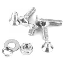 300pcs M3*4\M3*5\M3*6\M3*8\M3*10\M3*12 Cross Flat Head Screw Set with Gaskets and Nut Stainless Steel Screws
