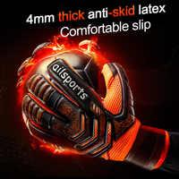 Novo design profissional futebol goleiro glvoes látex dedo proteção crianças adultos futebol goleiro luvas