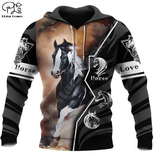 PLstar Cosmos Love Racing Horse Animal New Fashion Pullover Funny 3Dprint Unisex zipper/Hoodies/Sweatshirt/Jacket/Men/Women B-8