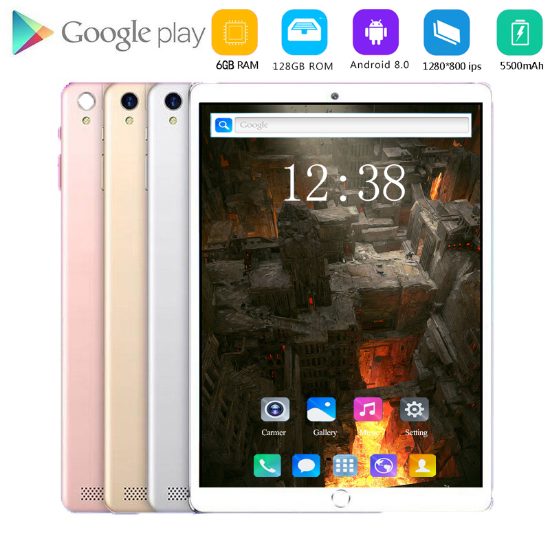 10.1 Inch Tablet Pc Octa Core 2020 Original Powerful Android 8.0 6GB RAM 128GB ROM IPS Dual SIM Phone Call Tab Phone Pc Tablets