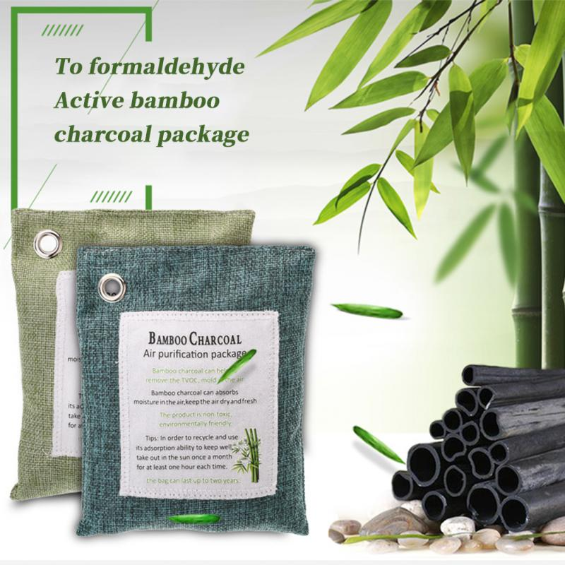 Natural Bamboo Charcoal Bag Air Purifying Bag Mold Odor Eliminator Non Toxic Activated Carbon Purifier Closets Shoe Deodorant#63
