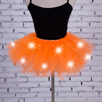 Women's Girl LED Light Up Tulle Tutu Dancing Skirt 2019 New Fashion 8 colors Party Night Skirts Halloween Costumes Skirts z0905 6