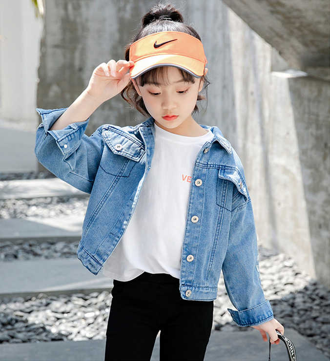 Bobotata 2019 nowe Denim kurtka dla dzieci jesień zima dziewczyny odzież wierzchnia dla dzieci moda dla dzieci stroje kurtka dziewczyny płaszcz 4 8 10 12 lat