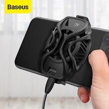 Resfriadores de telefone celular Baseus Radiador com refrigeração para jogos, suporte universal de ventoinhas de telefone para PUBG, ventilador de resfriamento de telefone móvel gamer