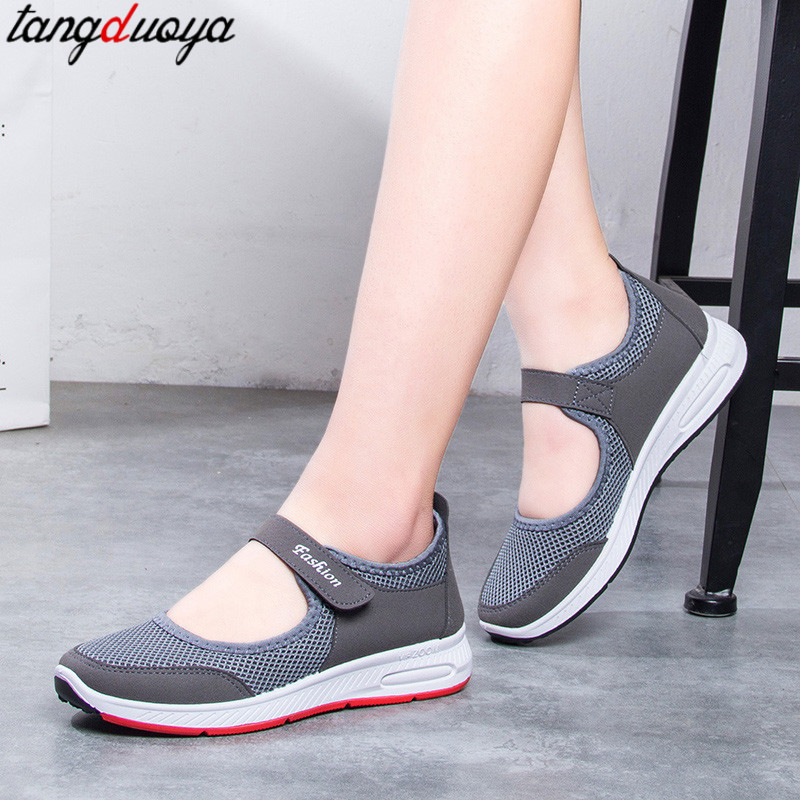 Summer Shoes Women Flats Breathable Mesh Shoes Women Loafers Slip On Women Casual Shoes Zapatos Mujer 2019