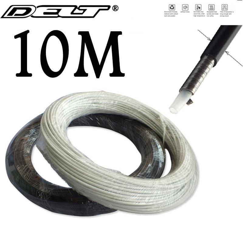10 метров велосипедный дисковый тормозной кабель корпус черный и белый 5,0 мм MTB дорожный фонарь велосипедные аксессуары