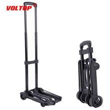 Remolque de viaje portátil de aleación de aluminio Carro de equipaje plegable para el hogar y el coche carrito trolley de compras remolque de maletero