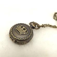Reloj de bolsillo de cuarzo con tapa, reloj de bolsillo de bronce Retro de moda, reloj de bolsillo, collar de cadena colgante, reloj de карманные сы ы