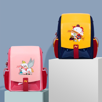 NOHOO Primary School Bag Orthopedic Backpack For Girls Boys Waterproof PU Large capacity Kids School Backpack for Teenage Girl fashionable backpack for men pu waterproof backpack for high school students campus schoolbags large capacity computer