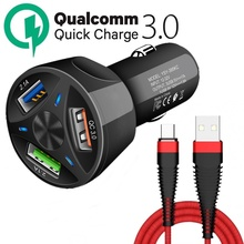 Tongdaytech Car Charger USB Quick Charge 4.0 3.0 For Iphone