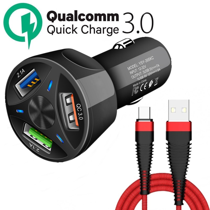 Tongdaytech <font><b>Car</b></font> <font><b>Charger</b></font> USB <font><b>Quick</b></font> <font><b>Charge</b></font> 4.0 <font><b>3.0</b></font> For Iphone X 8 Phone Fast <font><b>Charger</b></font> In <font><b>Car</b></font> Chargeur For Samsung S10 S8 Carregador image