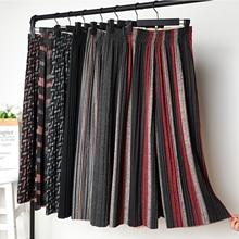 2019 New Autumn Winter Woolen Wide Leg Pants