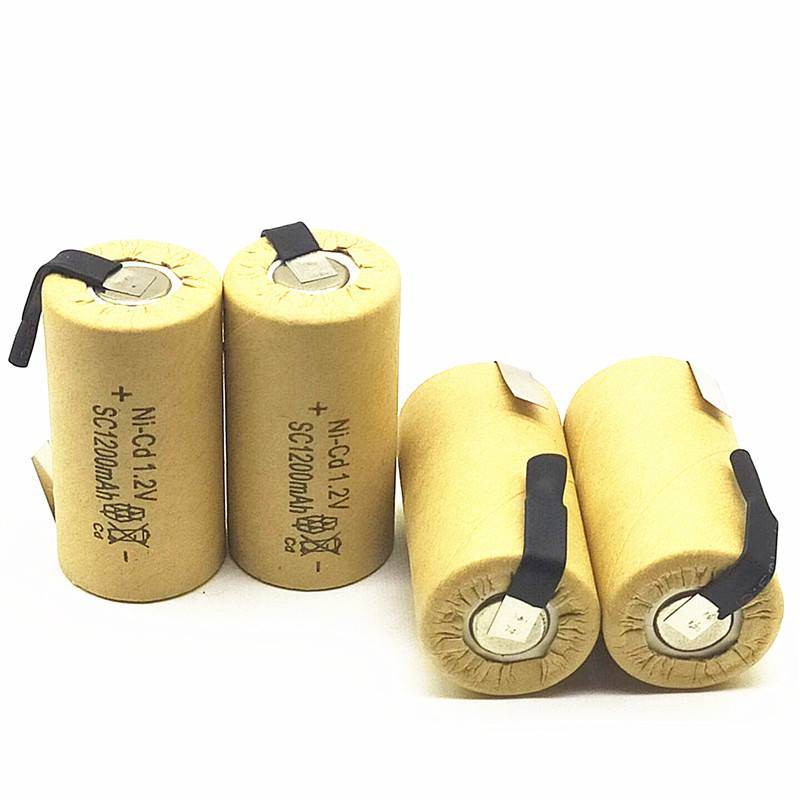 High Quality Battery Rechargeable Battery Sub Battery SC Ni-Cd Battery 1.2 V With Tab 1200 MAh For Electric Tool