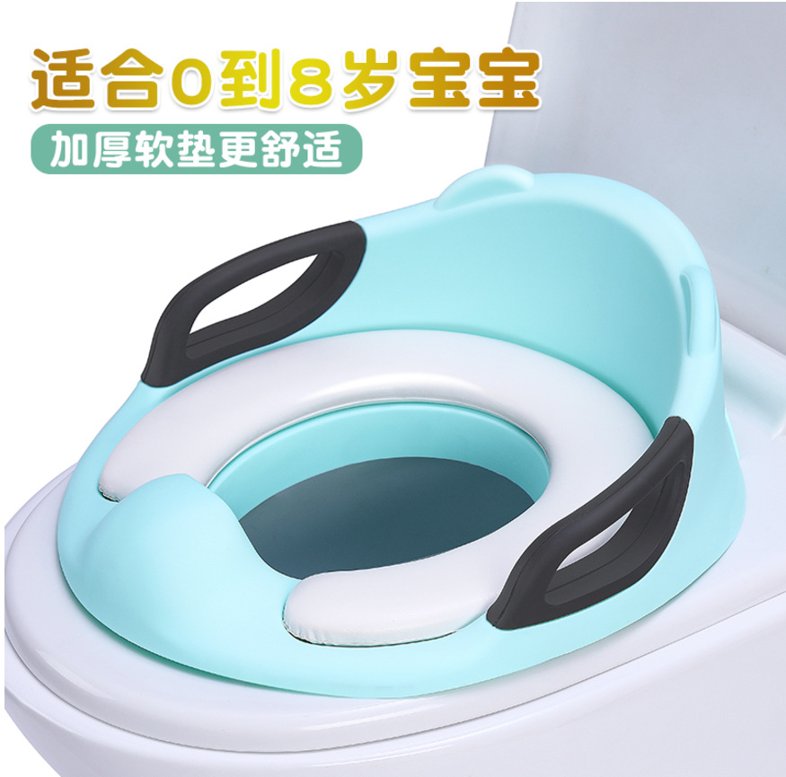 CHILDREN'S Toilet CHILDREN'S Toilet Seat Men And Women Baby Toilet Seat Toilet Mat Baby Toilet With Padded Extra-large
