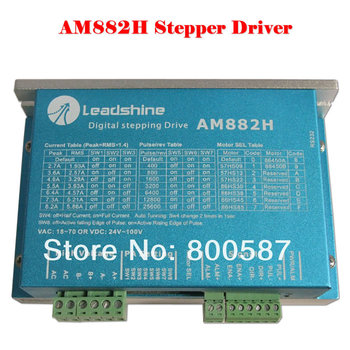 AM882H stepper motor for CNC Router Parts Leadshine AM882 Stepper Drive Stepping Motor 80V 8.2A with Sensorless Detection high quality leadshine dc servo motor 57hs22 a corresponding drive dm442 for large format inkjet printer