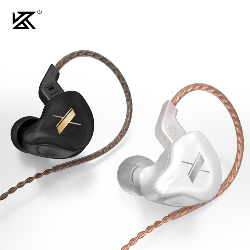KZ EDX wired Earphones with mic headset gamer micro earpiece sports earbuds active noise cancelling earbuds bass speaker for zs3