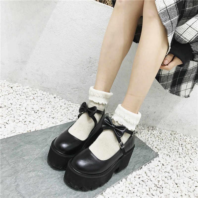 High Heels Black Platform Women Pumps