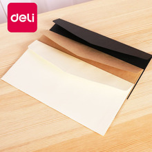 Buy Deli 50PCS/Pack Black White Paper Envelope Folder Message Card Letter Stationary Office Storage Paper Card Scrapbooking Gift directly from merchant!