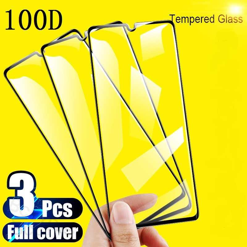 3Pcs Tempered Glass For Samsung Galaxy A50 A30 A70 M20 A40 A20 A10 Screen Protector Protective  Glass For Samsung A50 M30 Glass