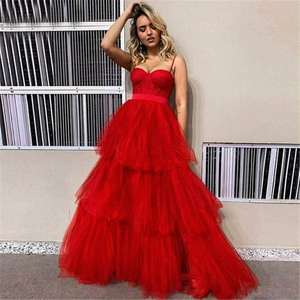 Red Evening Dress Tiered Long Corset Gown Tiered Long A line Prom Dress Layers Formal Straps Sweetheart Boned Foraml Dresses