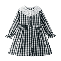 Girls Plaid Dress Long Sleeve Baby Girl Clothes Cotton Spring Autumn Kids Dresses Toddler Clothing Children Princess Dress 2-7Y