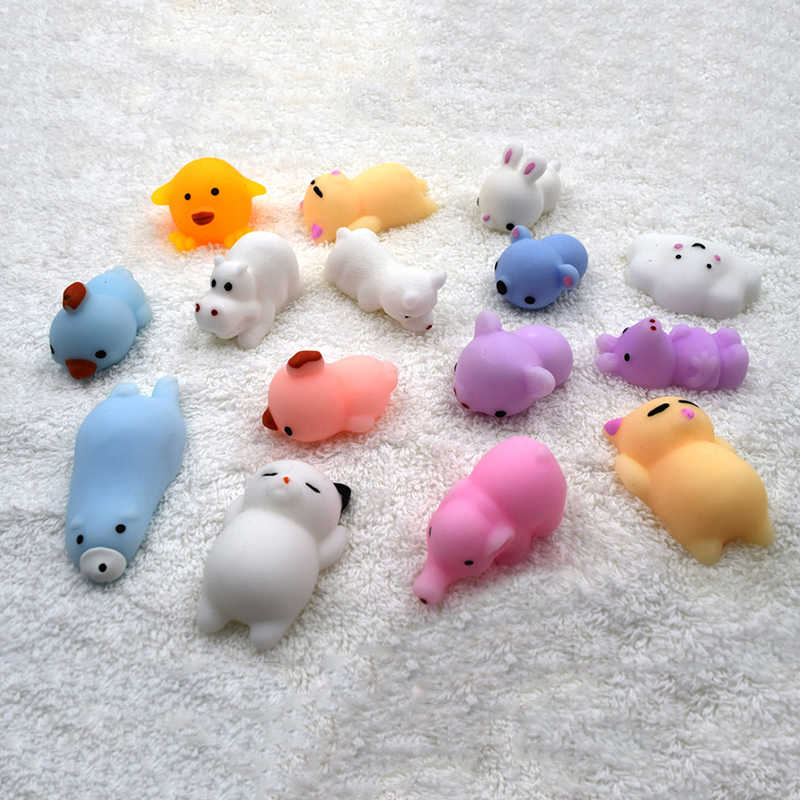 41 modeli zabawki do ściskania Mini zmień kolor Squishy słodkie zwierzaki piłeczka antystresowa wycisnąć miękkie lepkie Stress Relief zabawny prezent zabawka
