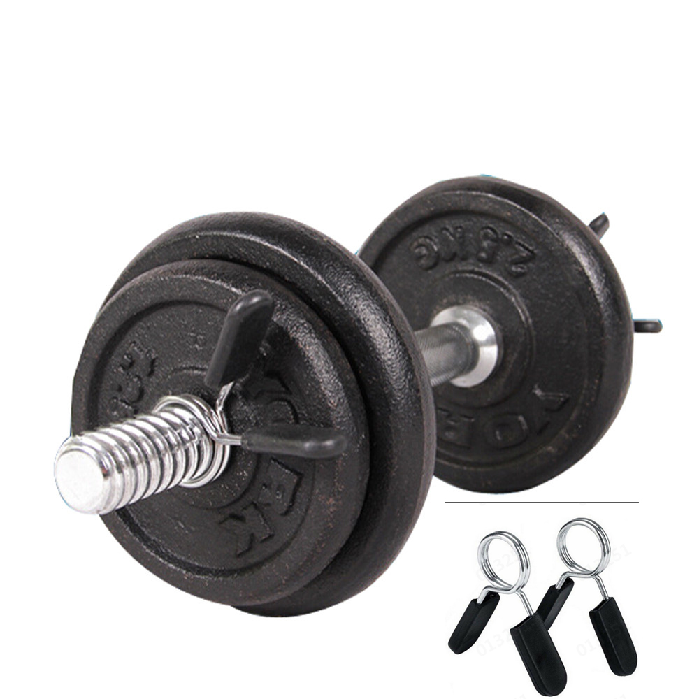 UK 2PCS Barbell Clamp Spring Clips Collar Gym Weight Dumbbell Lock 25//28//30mm
