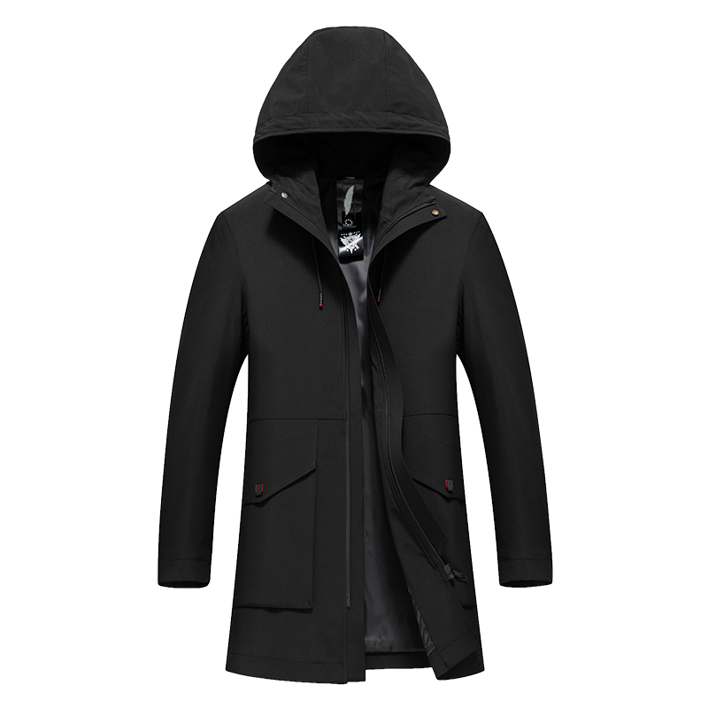 Paragraph Lang Legendary 2019 new men winter hooded coat trench overcoat standard conventional