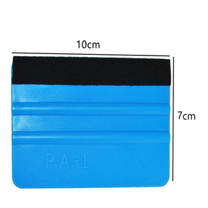 Image 5 - 1pc Car Vinyl Film wrapping tools Blue Scraper squeegee with felt edge size 10cm*7cm Car Styling Stickers Accessories