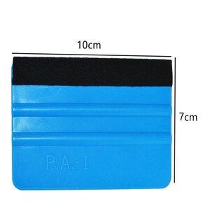 Image 5 - Película de vinilo para coche, 1 unidad, herramientas de envoltura, rasqueta y escobilla azul con borde de fieltro, tamaño 10cm * 7cm, pegatinas de diseño de coche, accesorios