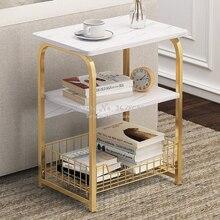 25% деревянный чайный столик концевой стол для офисный кофейный столик Квадратная Мраморная журнальная полка маленький стол для спальни меб...