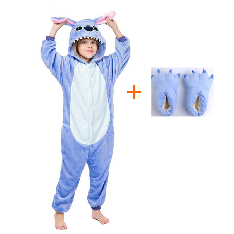 Adult Animal Unicorn Stitch Onesie Pajama Women Men Boys Girls Couple 2020 Winter Pajamas Suit Sleepwear Flannel Pijama