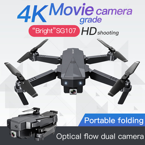 Hipac SG107 Drone with 4K Camera 15Mins WIFI FPV HD Dual Camera Quadcopter Optical Flow Rc Dron Gesture Remote Control Drones