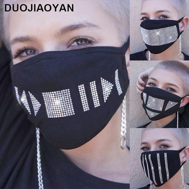 DUOJIAOYAN European And American Fashion New Mask Rhinestone Streamer Veil Summer Sunscreen Veil Sex Accessories