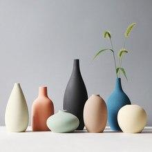 Vaso Nordic Morandi vaso di fiori Vintage ceramica decorazioni per la casa accessori per la decorazione della stanza decorazioni per vasi