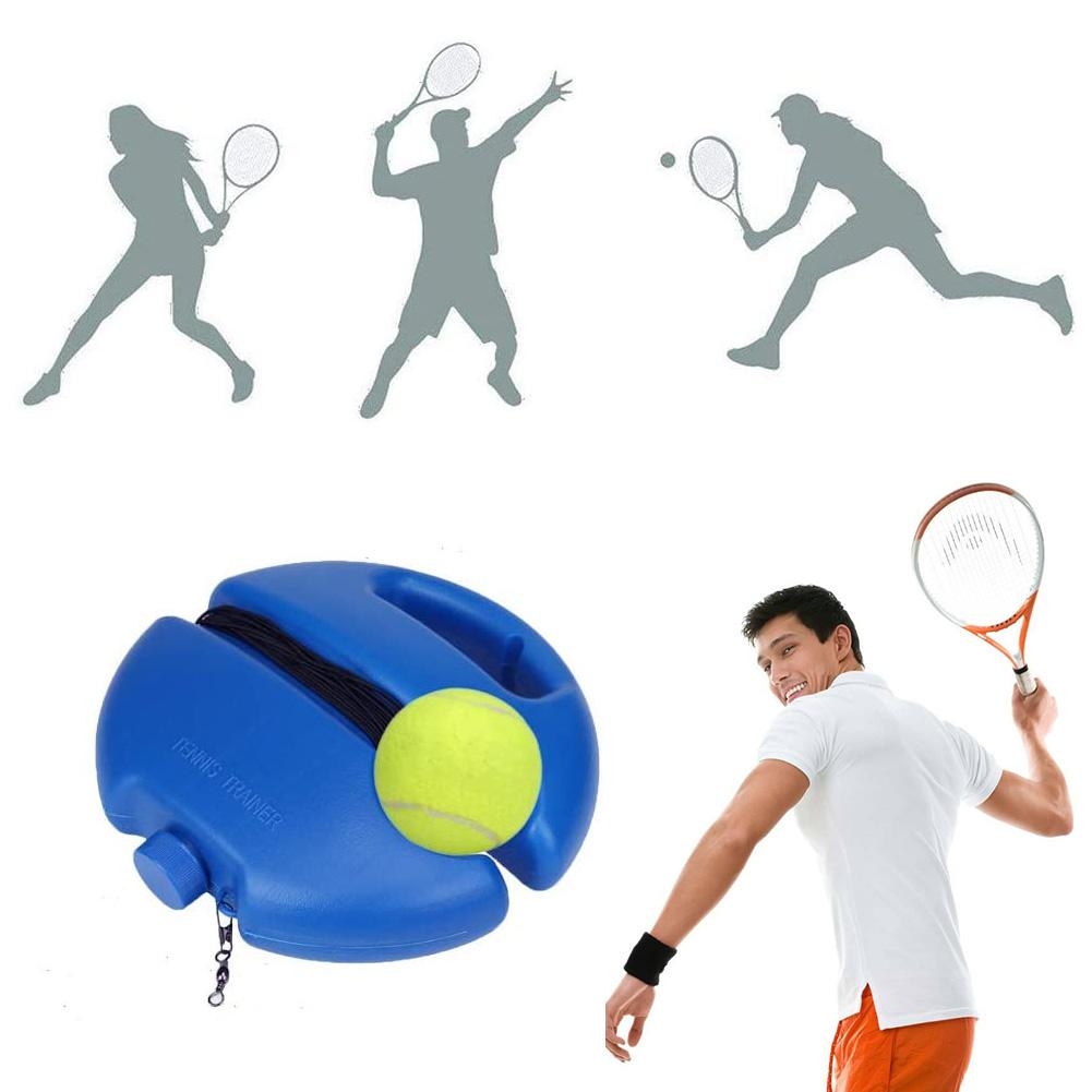 New Tennis Trainer Base Trainer With Rope Automatic Rebound Anti-winding Rubber Band Tennis Trainer