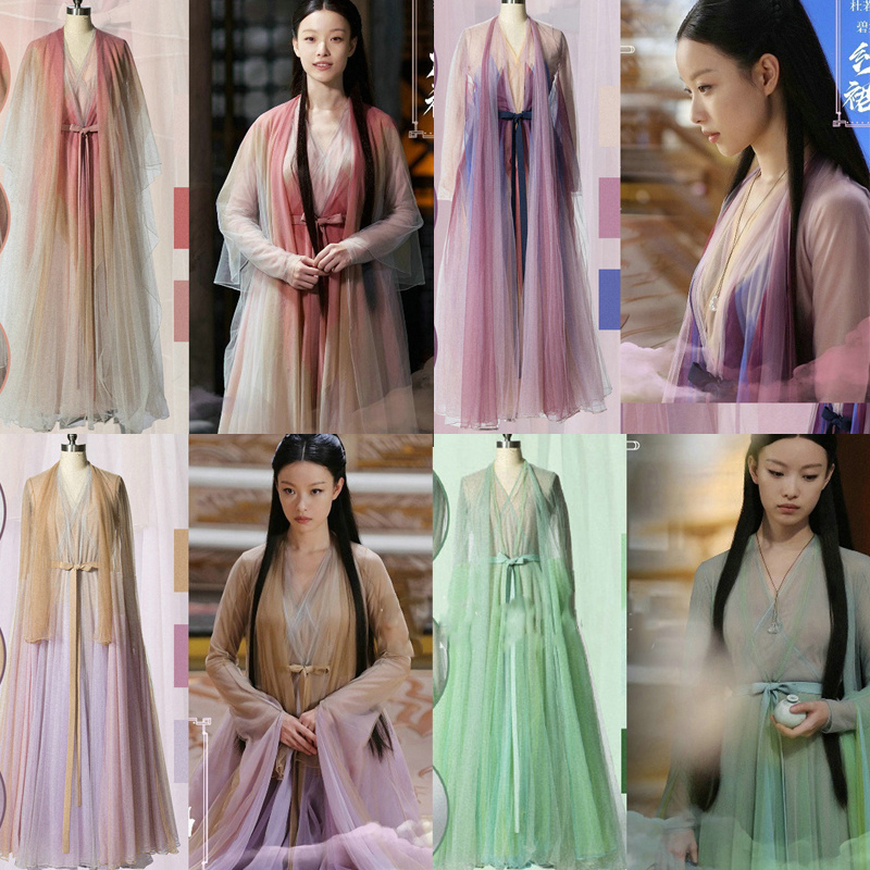 12 Design Chen Xi Yuan Love And Destiny Fairy Lingxi Delicate Embroidery Costume Aesthetic Hanfu Stage Performance Cosplay Hanfu