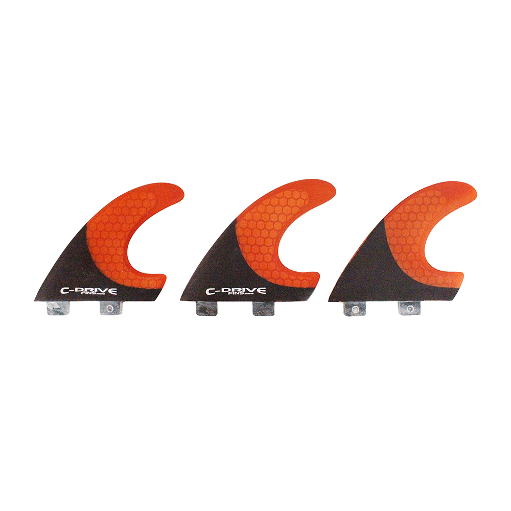 FCS Base Carbon Fiber And Honeycomb Surfboard Fins Thruster Fins(3pcs/set)