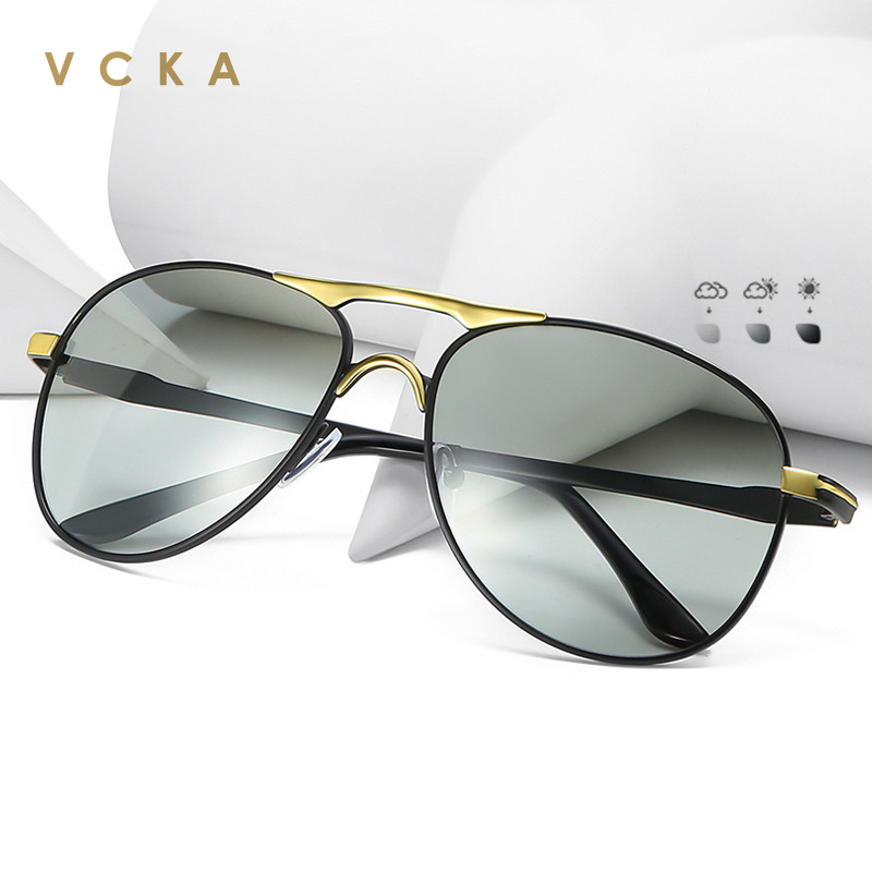 VCKA Trending Styles Aluminium Magnesium Glass Square Men Sunglasses Polarized Sun glasses for Men Sport Eyewear Oculos de sol