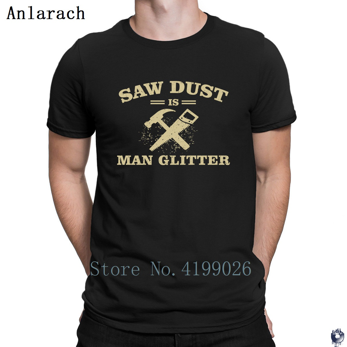 Saw Dust Is Man Glitter Woodworking T-shirts Awesome Summer Style Costume Men's T Shirt Cotton Latest Top Quality Customized