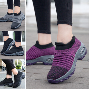 Image 5 - Fashion Women Walking Shoes Super Soft Height Increase Travel Outdoor Shoes Cmfortable Lightweight Breathable