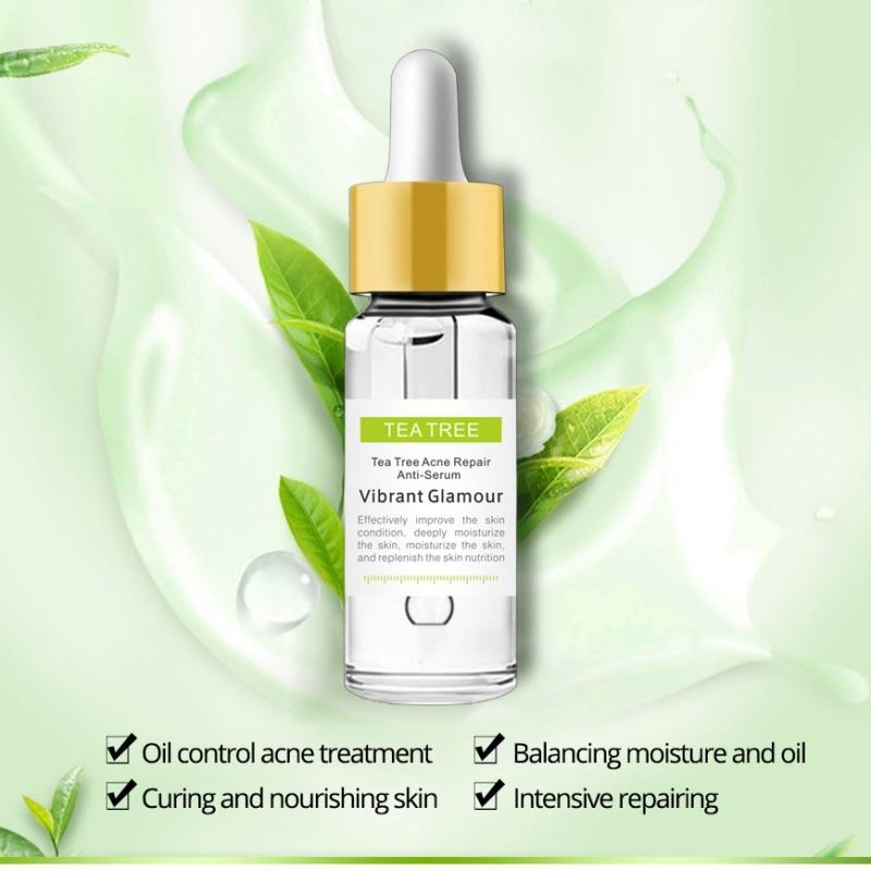 New Pregnant Woman Care Tea Tree Repair Face Serum Acne Scar Shrink Pores Face Serum Eliminates Acne Treatment Serum
