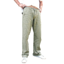 цена на Men Drawstring Pants Trousers Mid Waist Large Pockets Loose Pants Solid Casual Straight Male Wide Leg Pants Khaki Army Green D30