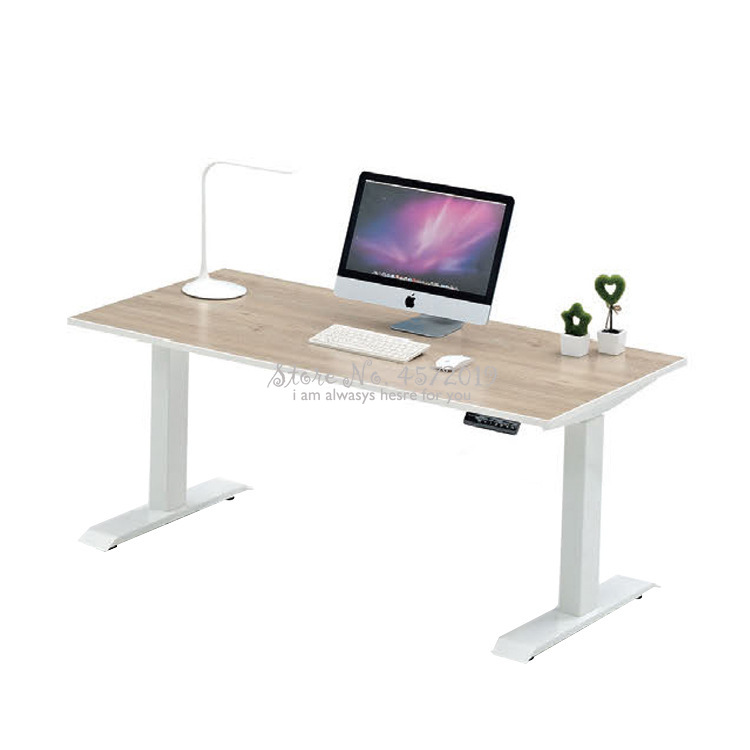 Simple Computer Desk Electric Lifting Computer Table Tempered Glass Standing Type Lifting Table Folding Table
