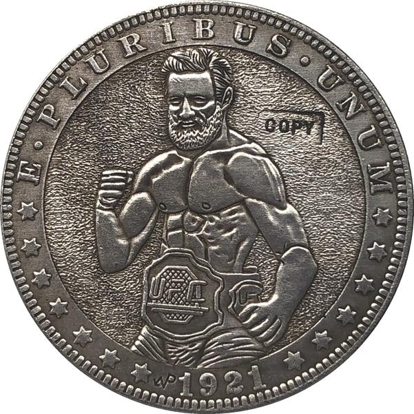 Hobo Nickel 1921-D USA Morgan Dollar COIN COPY Type 142