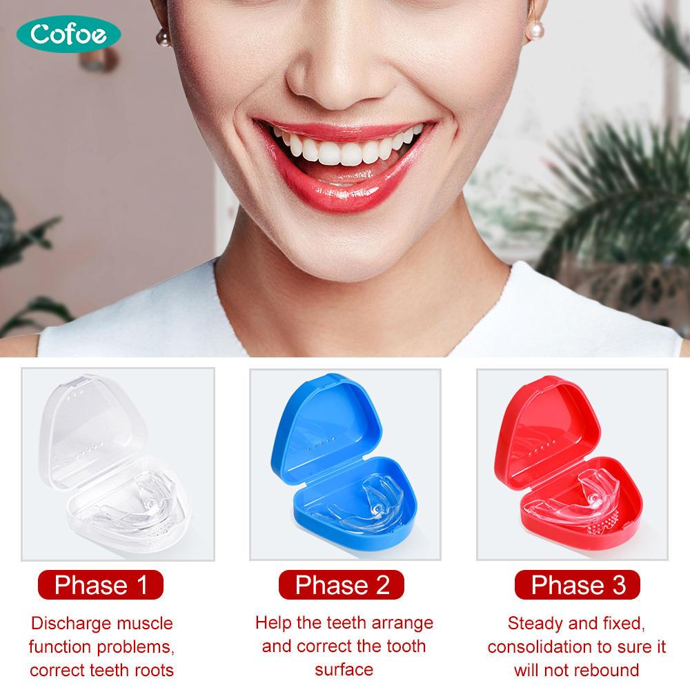 Cofoe Dental Braces Orthodontic locator Invisible orthodontic bracket For Smile Teeth Alignment Trainer and dental care With box