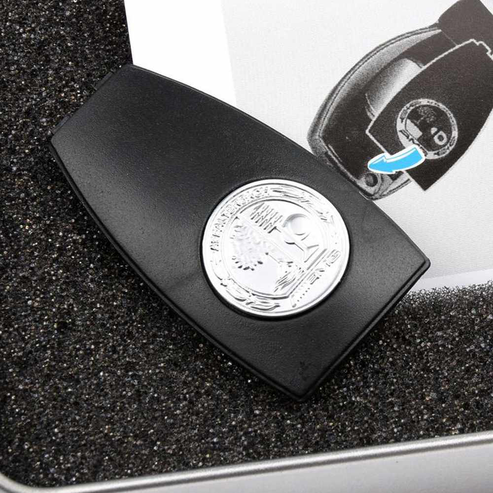 Hiking Brand Metal AMG Badge Key Back Cover For Mercedes-Benz Car AMG W204 W212 W218 W221 W166 Remote Control Back Cover